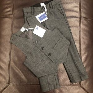 NWT Janie and Jack Toddler Boy Wool Vest Suit Set